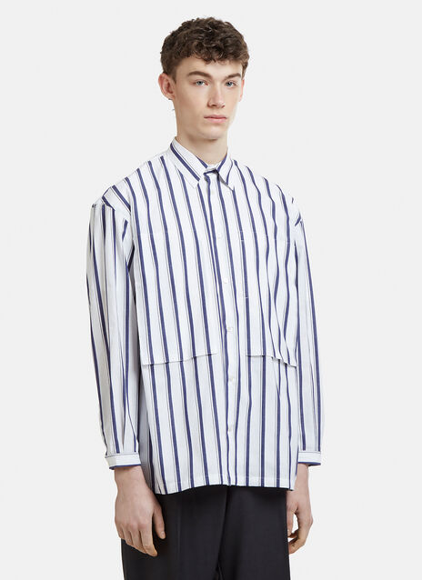 E.Tautz Lineman Striped Pocket Shirt