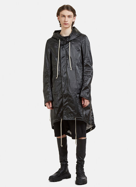 Rick Owens DRKSHDW Hooded Fishtail Parka Coat