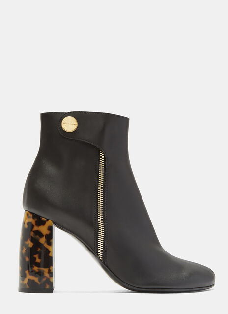 Stella McCartney Tortoiseshell Heeled Ankle Boots