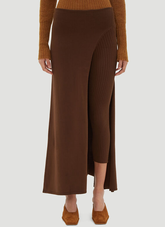 Jacquemus Asymmetric Legging Skirt