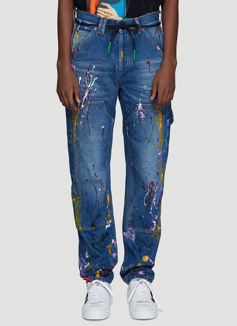 Off-White Carpenter Splatter Jeans
