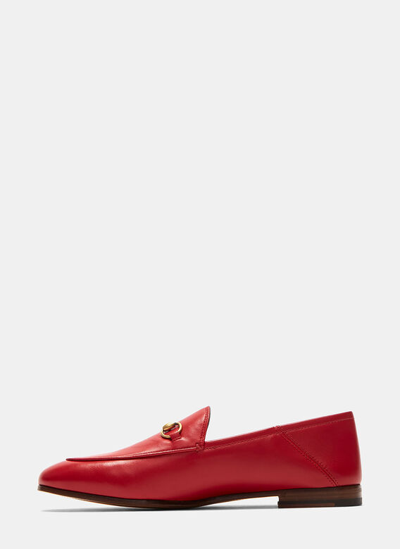Gucci Jordaan Classic Leather Slip-On Loafers 3