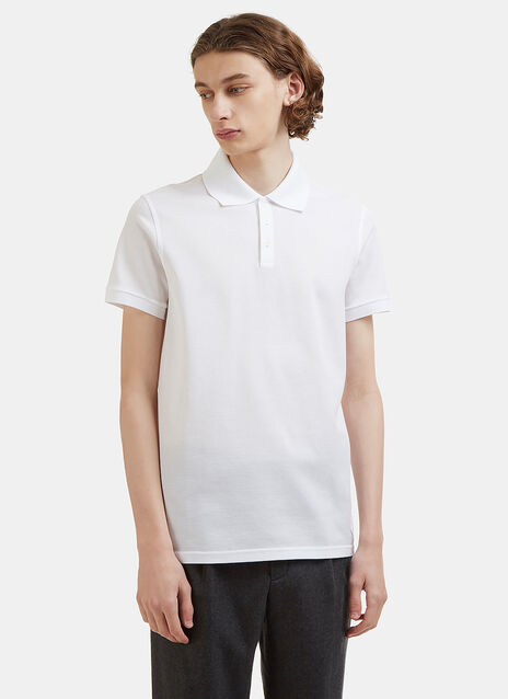 Saint Laurent Embroidered Cotton Polo Shirt