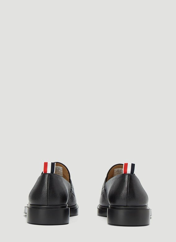 Thom Browne PENNY LOAFER W/ TONAL LIGHTWEIGHT RUBBER SOLE IN PEBBLE GRAIN 4