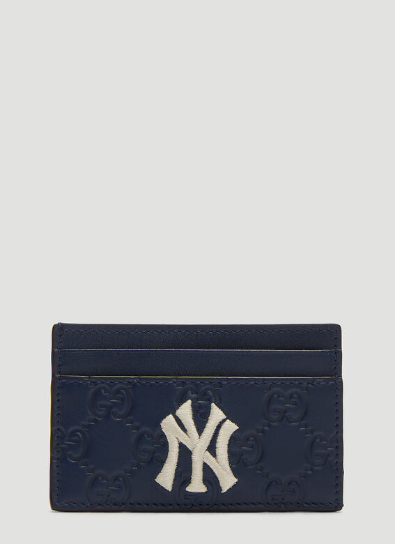 4486ee7198f0 Gucci NY Yankees™ GG Card Holder in Navy | LN-CC