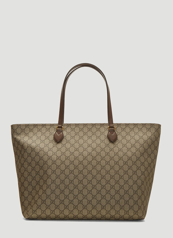 7d040826945 Gucci Ophidia GG Supreme Tote Bag in Brown