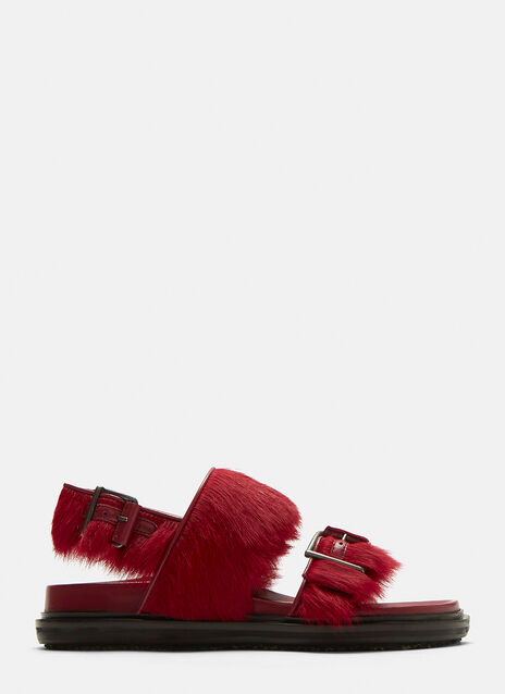 Marni Furry Fussbett Sandals