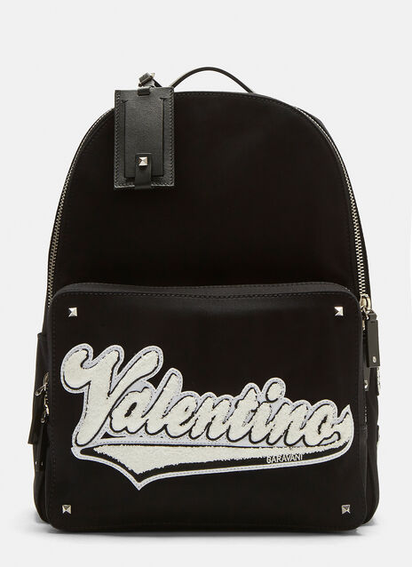 Valentino Logo Canvas Backpack