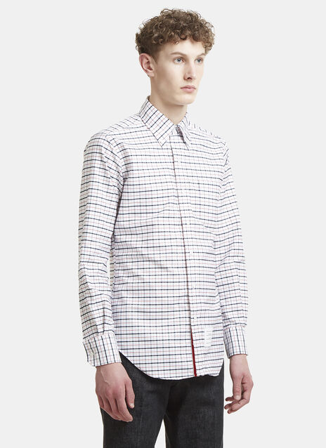 THOM BROWNE Windowpane Checked Oxford Shirt