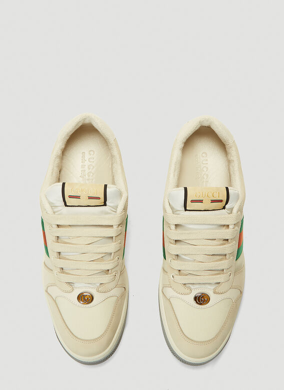Gucci SCREENER TRAINERS NYLON AND LEATHER 2