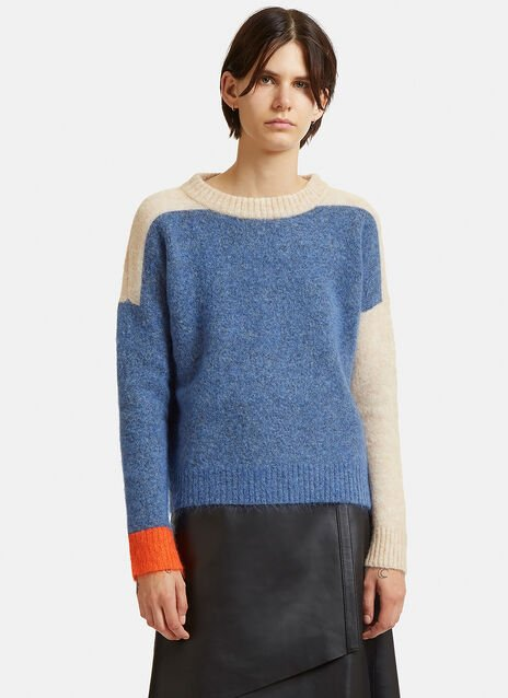 Rafa Colour Block Mohair Sweater