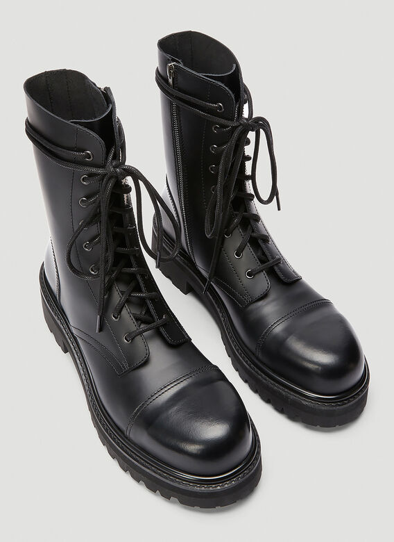 Vetements LACE-UP MILITARY BOOTS 2