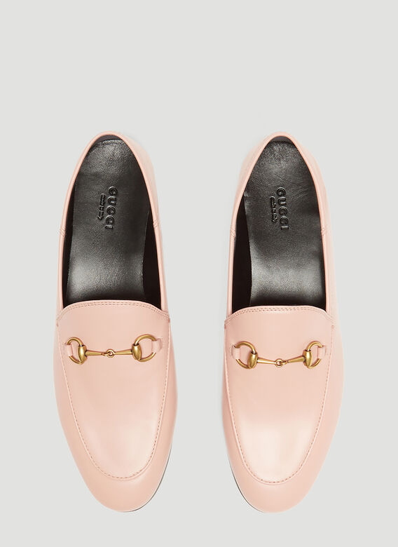 59c002a46e9 Gucci Brixton Leather Moccasin Loafer in Pink