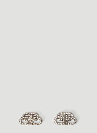 Balenciaga BB Crystal-Embellished XS Earrings