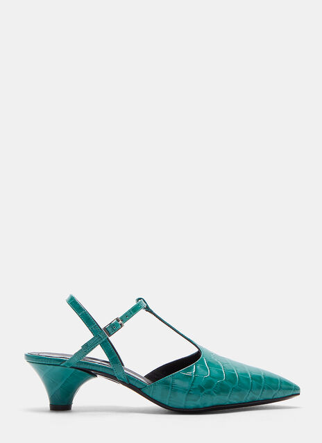 Marni Snake Effect Kitten Heeled Pump
