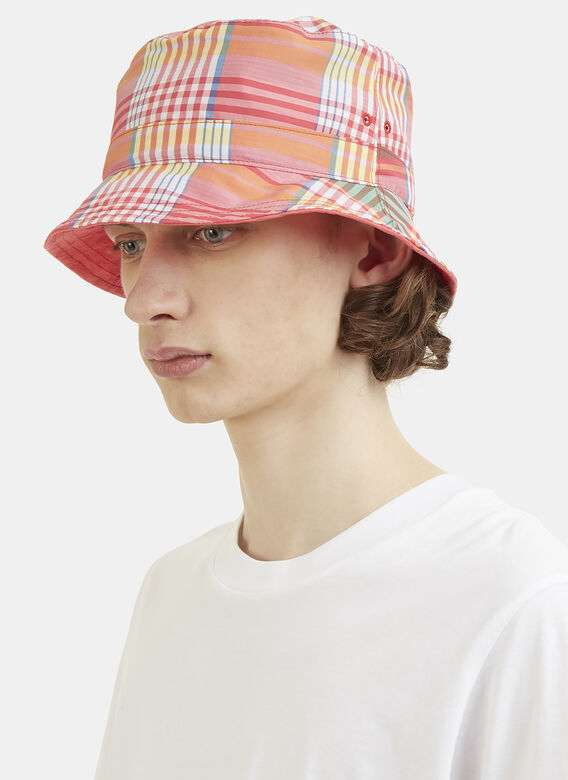 f9f935f6580 Thom Browne THOM BROWNE REVERSIBLE BUCKET HAT IN LARGE MADRAS CHECK POPLIN  + SALT SHRINK COTTON