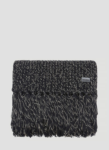Saint Laurent Metallic Knit Scarf