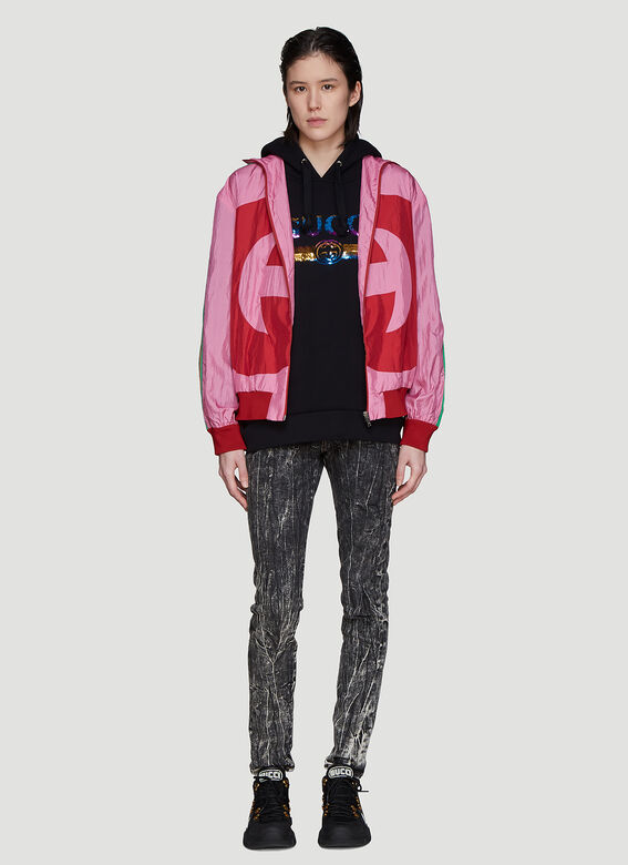 Gucci Hooded Rainbow Logo Sweater