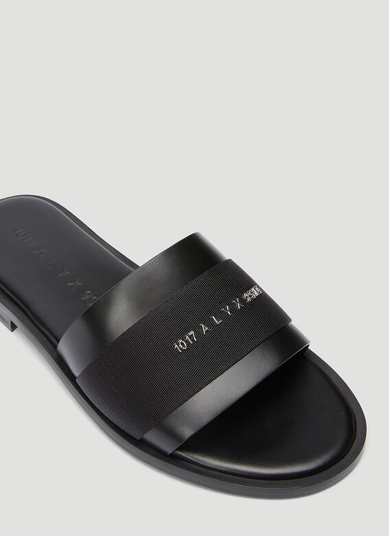 1017 ALYX 9SM LEATHER LOGO SLIDE 5