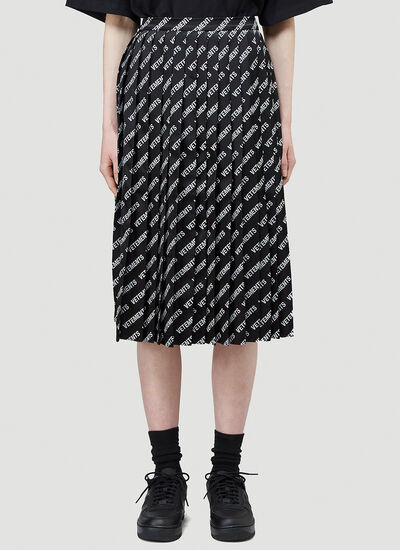 Vetements Logo Pleated Skirt