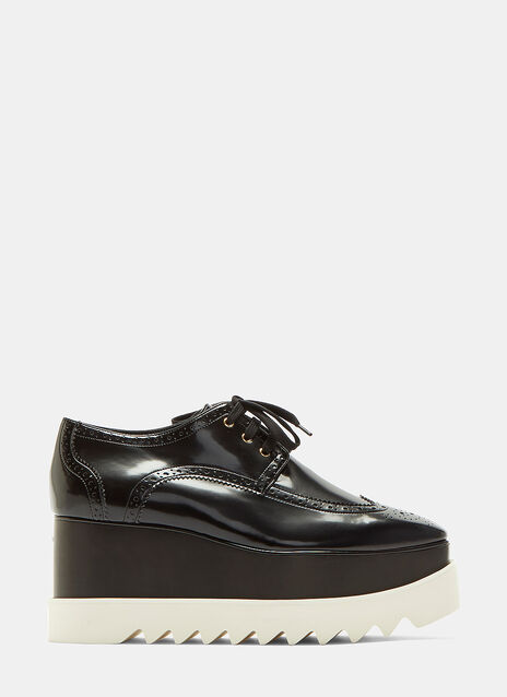 Stella Mccartney Elyse Patent Brogue Platform Shoes