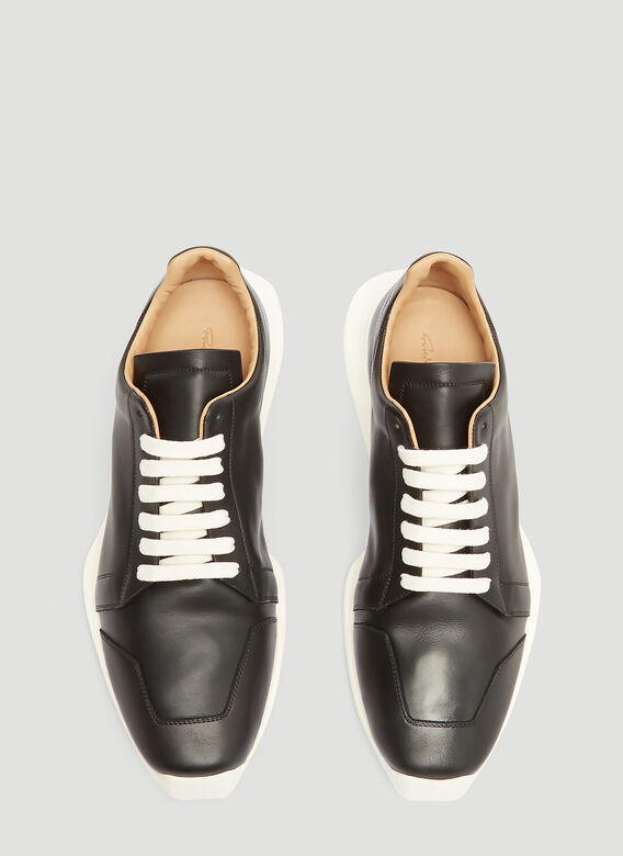 Rick Owens Oblique Leather Sneakers