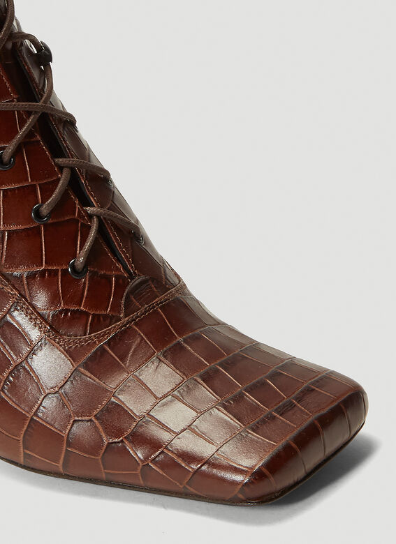 BY FAR Claude Embossed-Leather Boots 5