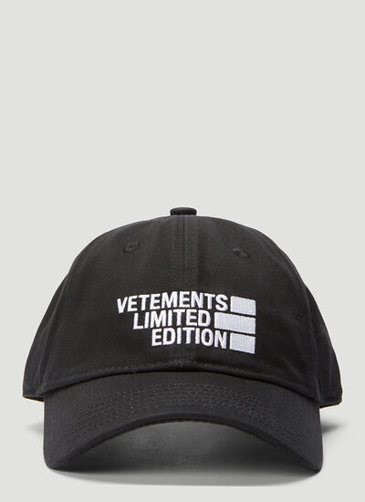 Vetements Logo Limited Edition Baseball Cap