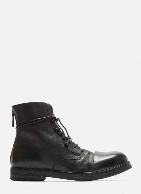Zucca Zeppa Drom Leather Ankle Boots