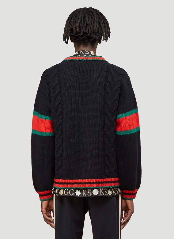 Gucci Oversized Cable-Knit Cardigan 4