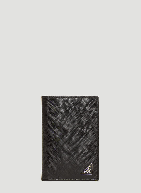 5815285d441f Prada Saffiano Leather Card Holder in Black | LN-CC
