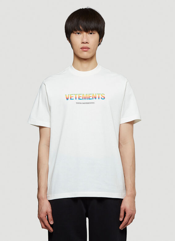 Vetements THINK DIFFERENTLY LOGO T-SHIRT R 1