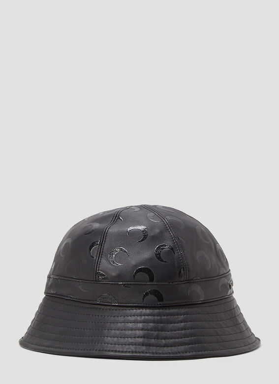 Marine Serre MOON PRINTED LEATHER BELL HAT -REGENERATED- 3
