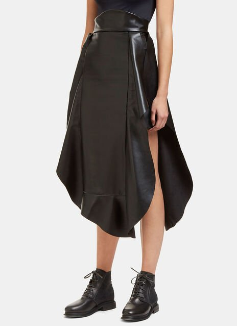 Jellyfish Faux Leather Frilled Skirt