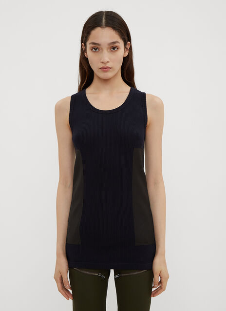 Atlein Patched Military Knit Tank Top