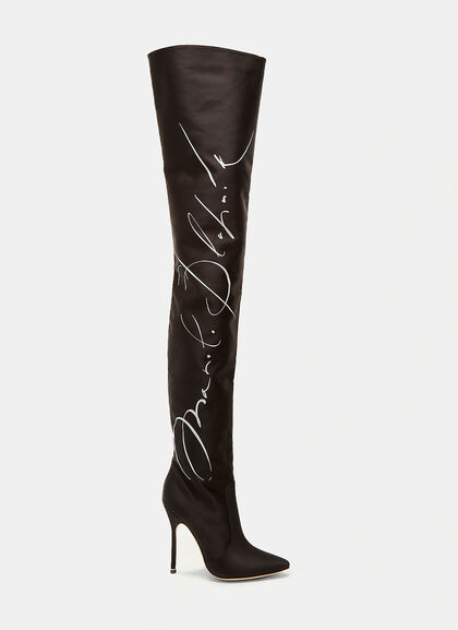 Buy Manolo Blahnik Signature Thigh High Boots online