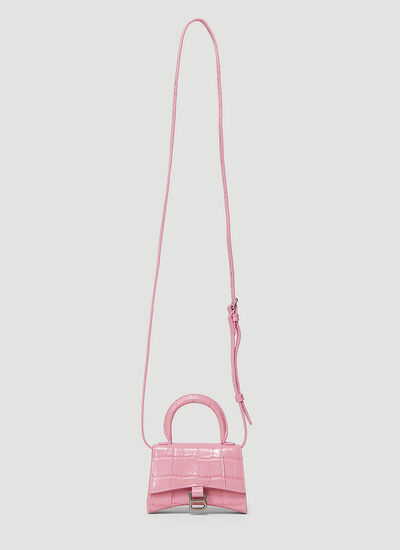 Balenciaga Hourglass Top Handle Mini Bag