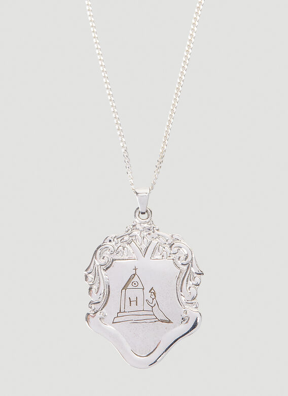Johnny Hoxton Shield pendant with engraving - Sterling Silver 3