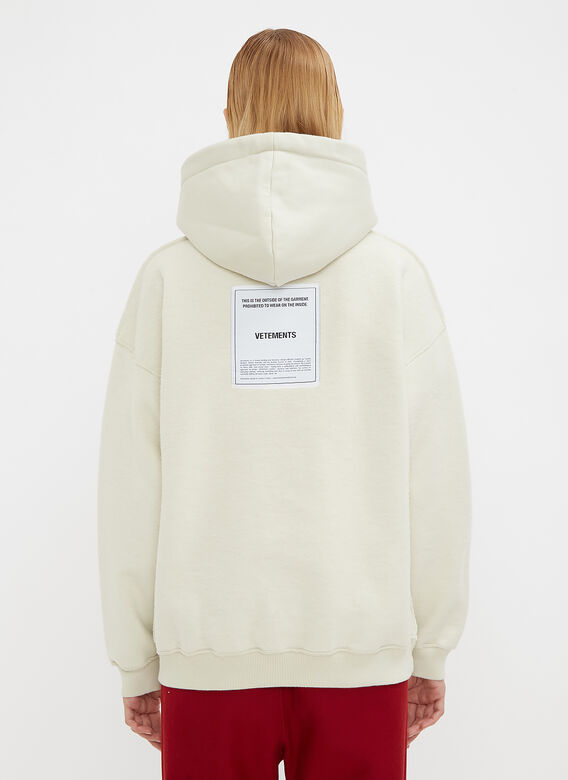 Vetements Hooded Fitted Inside Out Sweater