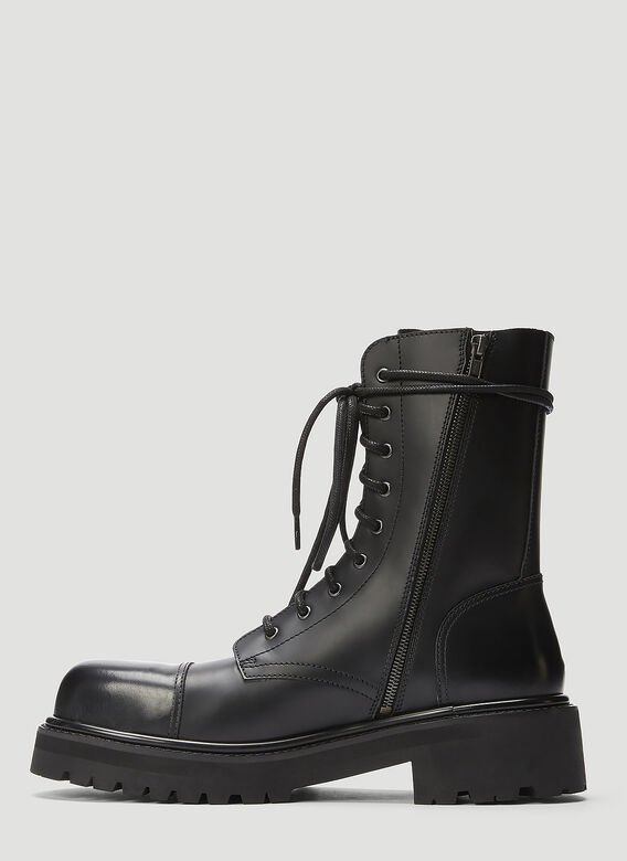 Vetements LACE-UP MILITARY BOOTS 3