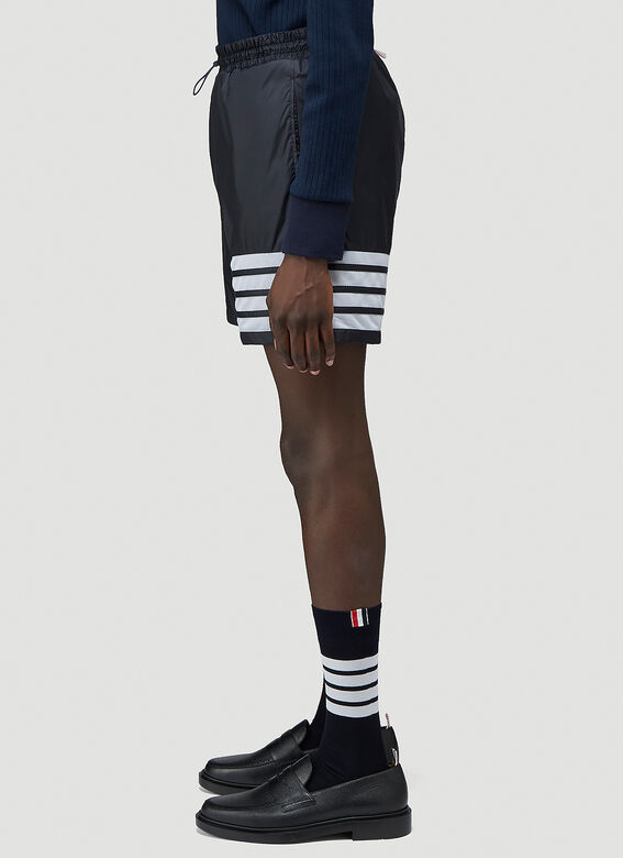 Thom Browne MID THIGH SHORTS W/ 4 BAR IN SHEER RIPSTOP 3