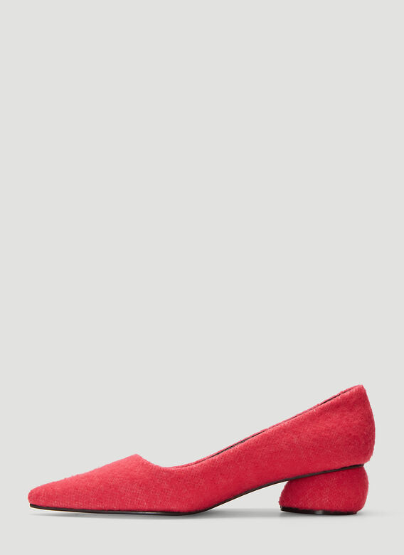 Flat Apartment PINK FURRY POINTED FLAT HEELS 3