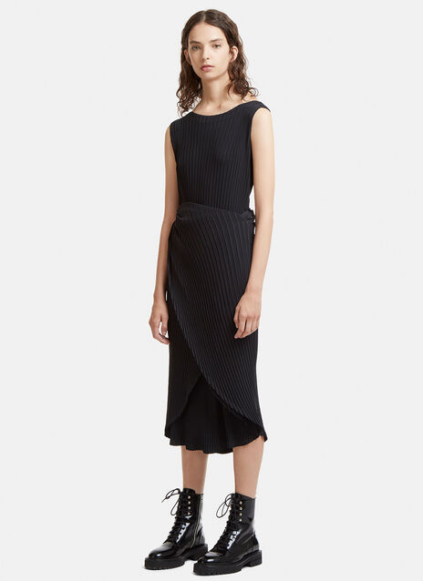 Double Stream Pleated Dress