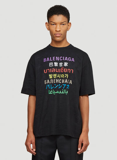 Balenciaga Multilanguages T-Shirt
