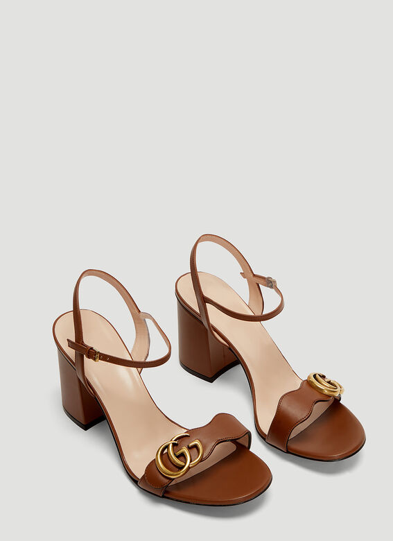 7787a59b4 Gucci GG 75 Marmont Sandals in Brown | LN-CC