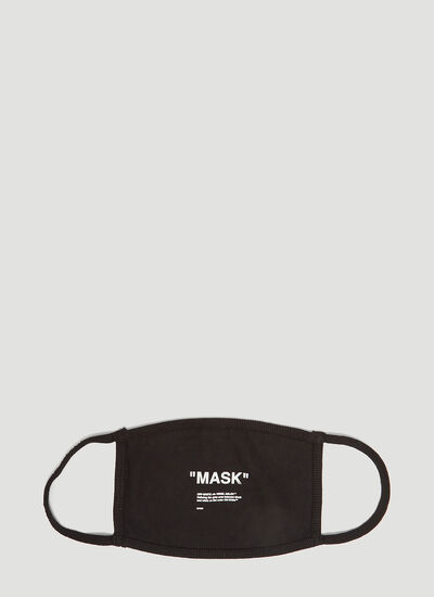 Off-White Printed Cotton Mask