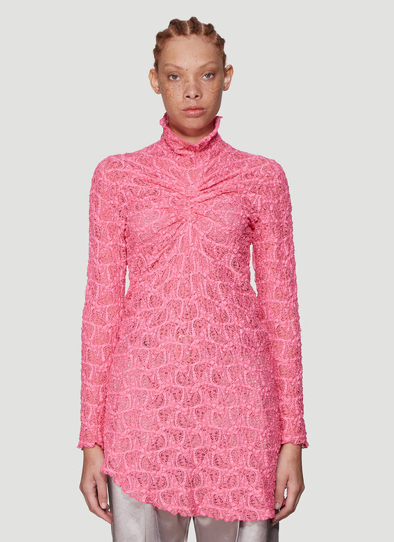 Sies Marjan Wille Lace Ruched Centre Top 1