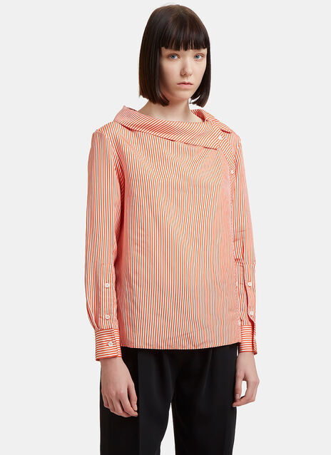 Altuzarra Striped Boat Collar Shirt