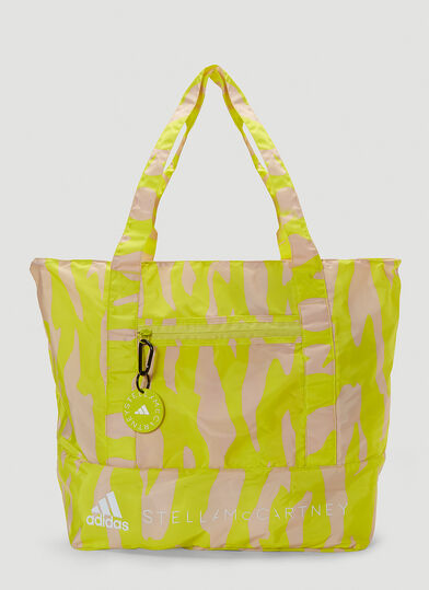 아디다스 Adidas by 스텔라 맥카트니 Stella McCartney Technical Printed Tote Bag in Yellow