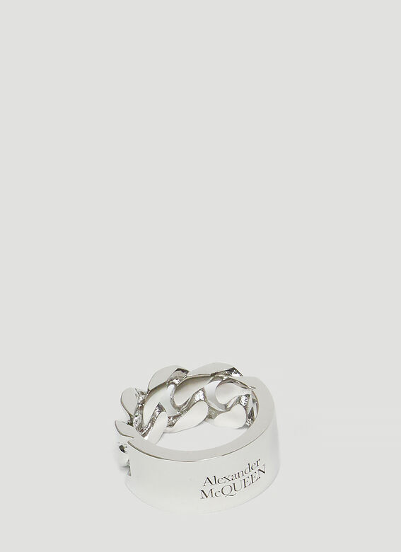 Alexander McQueen SNAKE AND TAG RING 1